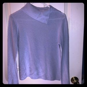 Ice Blue Cashmere Sweater Small